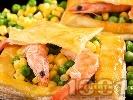 Рецепта Зеленчукова бутер пита със скариди